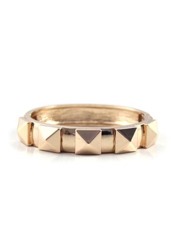 LEUPP gold Gold Pyramid Bangle TO983AC21DOSPH_1