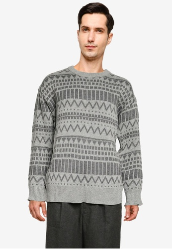 niko and ... grey Knit Pullover C3940AAF93C577GS_1