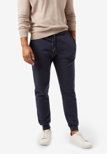 Burton Menswear London navy Plain Joggers 528D1AA39342FCGS_1