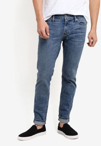 Abercrombie & Fitch blue Slim Medium Jeans AB423AA28IPBMY_1