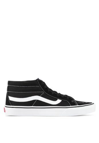 VANS black and white SK8-Mid Reissue Sneakers VA142SH0SHORMY_1
