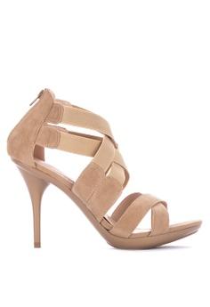 19adeb5cb1e Gibi beige Maitre Strappy Heeled Sandals 1A335SH309F212GS 1