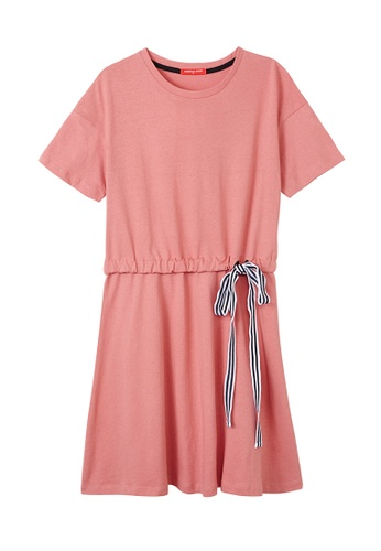 Cheetah pink Cheetah Ladies Casual Short Sleeves Dress - CL-19402-C1 BF2FCAAC0543EAGS_1