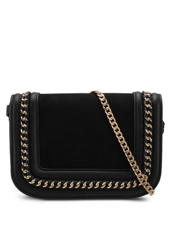 TOPSHOP black Carmel Chain Flap Crossbody Bag B08C6AC8FB52E9GS_1