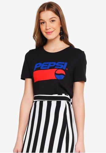 ONLY black Pepsi Short Sleeve Tee 1DA2AAADB104F9GS_1