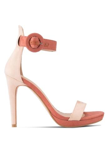 ZALORA pink Portofino Heeled Sandals 98B3ASH8C73734GS_1