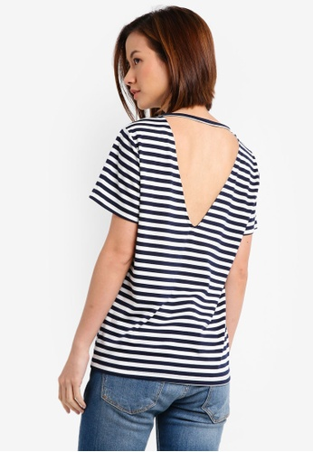 ZALORA navy Essential Open Back Tee CDF50AABA9AEC2GS_1