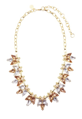 LUCCACAL orange Lee Angel Crystal Necklace- Orange LU294AC13IAKMY_1