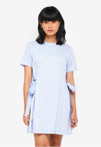 Something Borrowed blue Tie Detail Shift Dress 205CFAA4298C6BGS_1