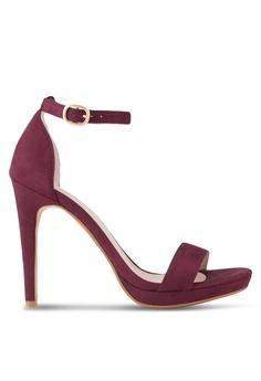 08511195a2be ZALORA red Ankle Strap Sandal Heel 67800SHB6FA9ADGS 1