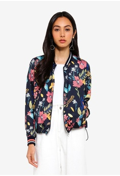 8630078b312 ONLY blue and multi Nellie Bomber Jacket 8E62DAA9E21AFFGS 1