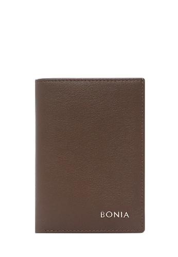 BONIA Brown Flynn Long Two Fold Wallet 9E4D7ACE00A36BGS_1