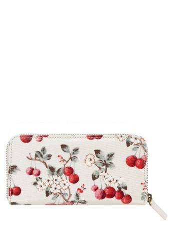 Cath Kidston white and multi Cherry Spring Cherry Continental Wallet A76A1AC91D29EBGS_1