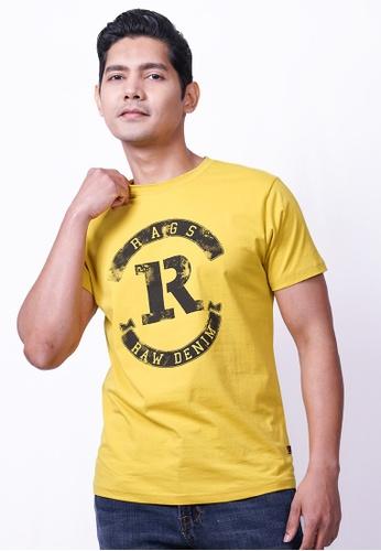 RAGS yellow Rags Graphic Tee Short Sleeve 82A46AA7DE5A73GS_1