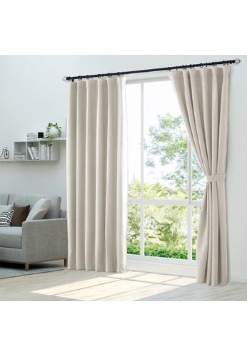 Epitex white Epitex Luxury GRA201-3 Ready Made Curtain (Off White) B10B3HLFB64F50GS_1