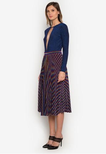 NOBASIC multi Multicolor Pleated Knitting Skirt B8404AA4246E98GS_1