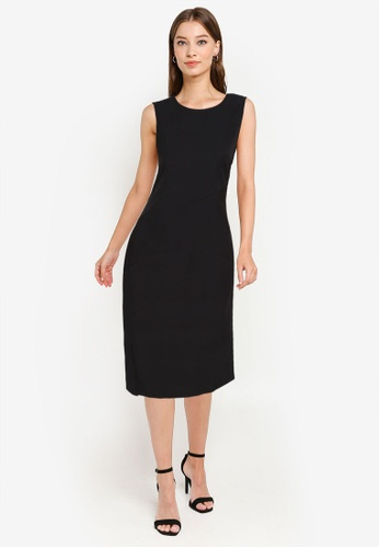ZALORA WORK black Sleeveless Sheath Dress BFA58AACAE2D12GS_1