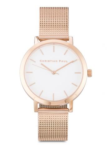 Raw 35mm 網眼esprit高雄門市錶帶圓框手錶, 錶類, 飾品配件