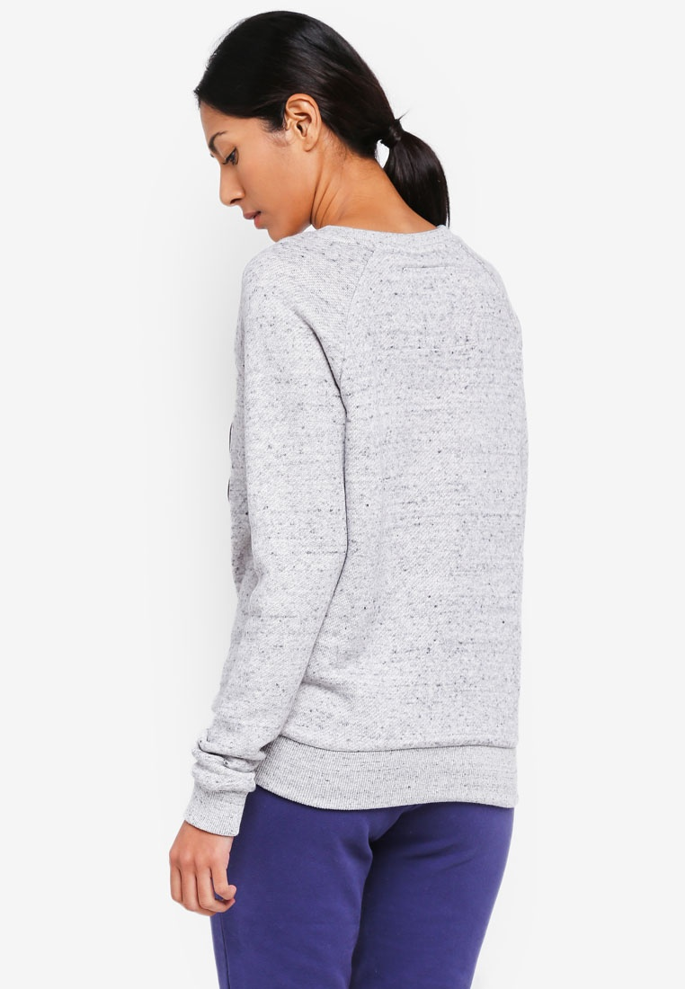 Grey Slim Crew Sweatshirt Slate Superdry Aria Marl wpqXdWC