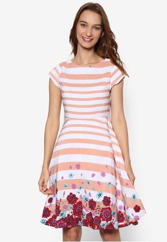 條紋印花洋裝, 服飾, zalora時尚購物網的koumi koumi洋裝