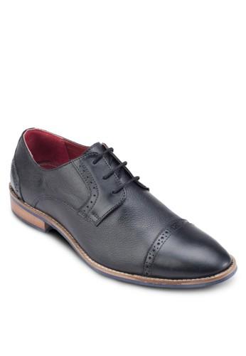 沖孔雕花繫帶皮鞋, 鞋, esprit 鞋鞋