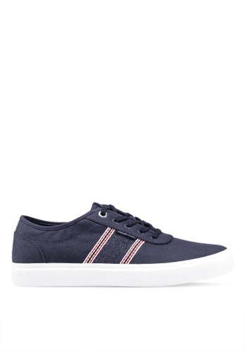 Jack & Jones navy Austin Navy Stripe Denim Sneakers AA1C3SH8746886GS_1