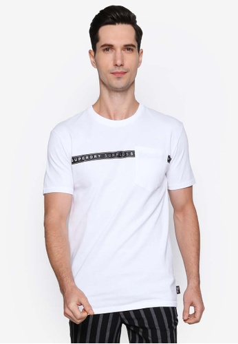 SUPERDRY white Surplus Goods Short Sleeve Boxy Graphic Tee A026FAAC260221GS_1