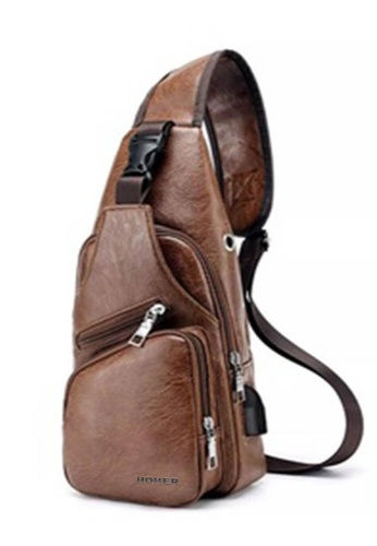 Lucky JX brown Xinsh Chest External Loop Leather Cross Body Bag 93157AC37A12B0GS_1