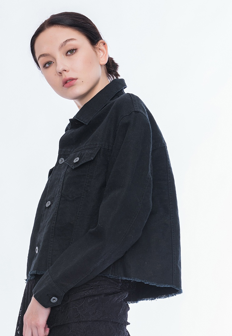 Style Alpha Callie Jacket Black Cropped wTwqXp1