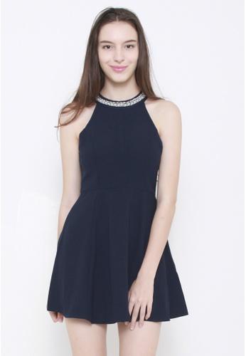 Leline Style blue Shona Beads Halter Dress LE802AA93RJESG_1