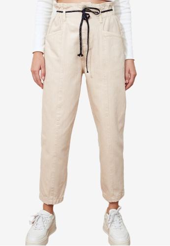 Trendyol white Corded Seam Detailed High Waist Jeans 195ECAACC69583GS_1
