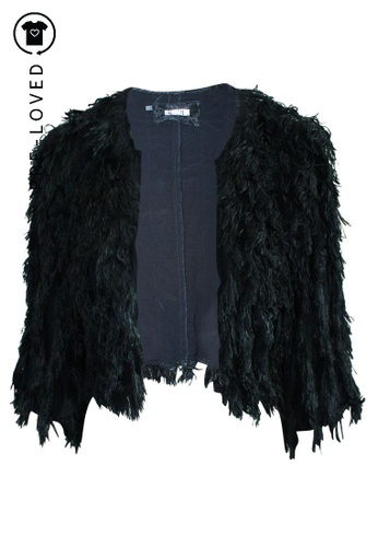 Reformation black Pre-Loved reformation Short Black Jacket with Fringes 91CBEAAFCFC04AGS_1