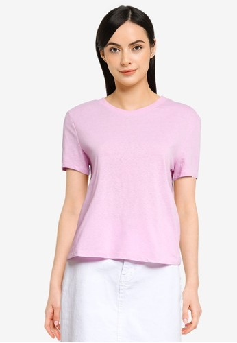 ONLY purple ONLAMA LIFE S/S CROPPED O-NECK TOP JRS DCEEBAAB102BCDGS_1