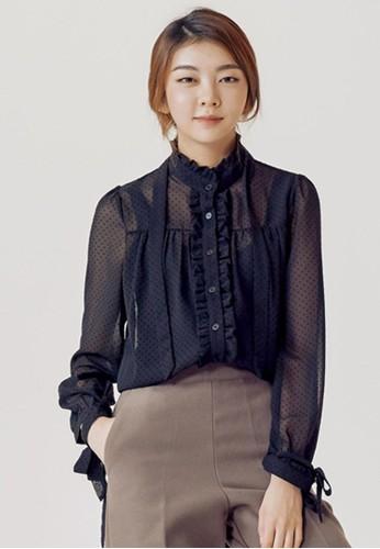透視繫帶女襯esprit china衣, 服飾, 上衣