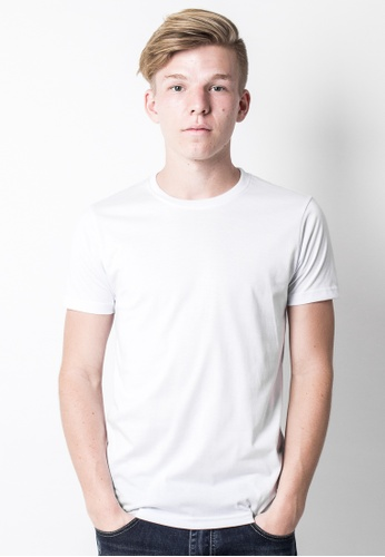 2nd Edition white Back to Basic Tee in White 2N610AA41EKKSG_1