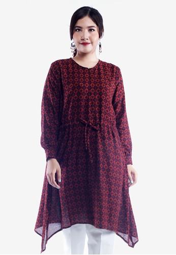 AlmiRangga black and red Naila Tunik Batik Wanita 9D64DAA42856F1GS_1