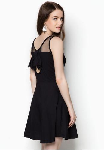 zalora 台灣背面小挖空連身裙, 服飾, 洋裝