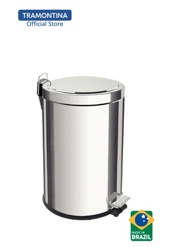 Tramontina Tramontina stainless steel pedal trash bin with removable internal bucket 12 L E5B4CHL969E9ACGS_1
