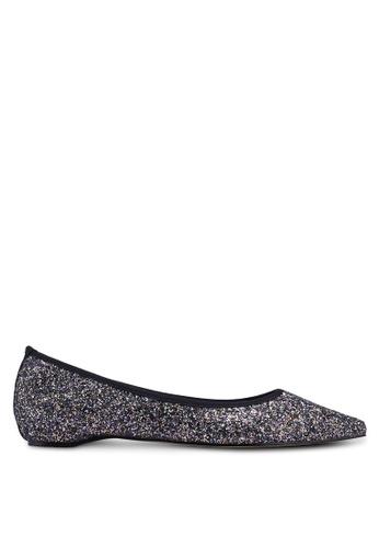 ZALORA 黑色 雙色閃亮平底鞋 0DE6FSH2298F59GS_1