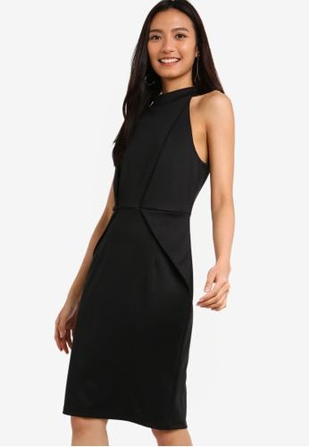 ZALORA 黑色 褶飾洋裝 93F3FAA132423CGS_1