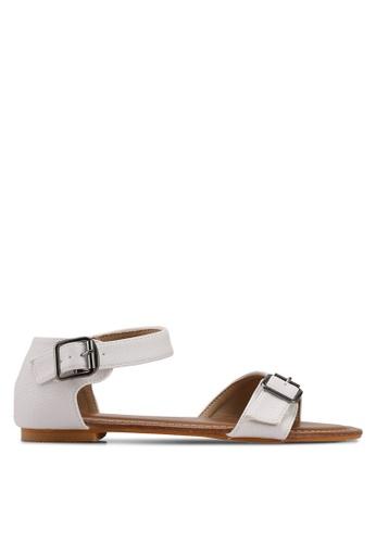 Mimosa white Textured Sandals 880E4SH97EB5D3GS_1