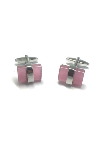 Splice Cufflinks Pink Acrylic Bar Cufflinks SP744AC10ACFSG_1