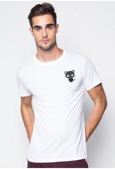 Kitty Cat Round Neck T-Shirt