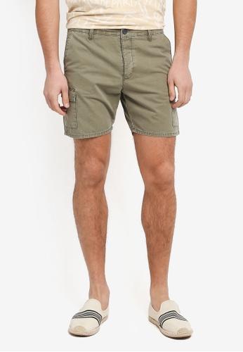 Topman green Cargo Shorts DBD0CAA158AA24GS_1