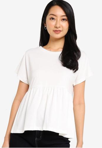 ZALORA BASICS white Babydoll Top 596D7AA0309D95GS_1