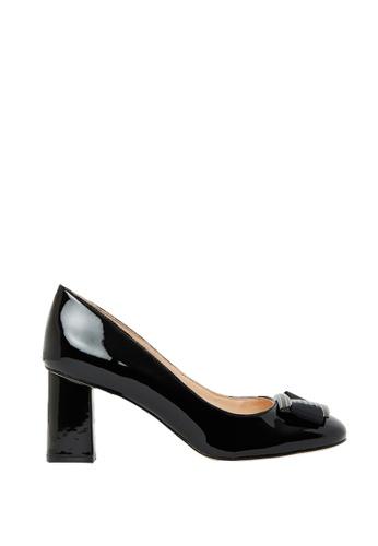 Nina Armando black Como Patent Leather Mid Heels NI342SH0FV3USG_1