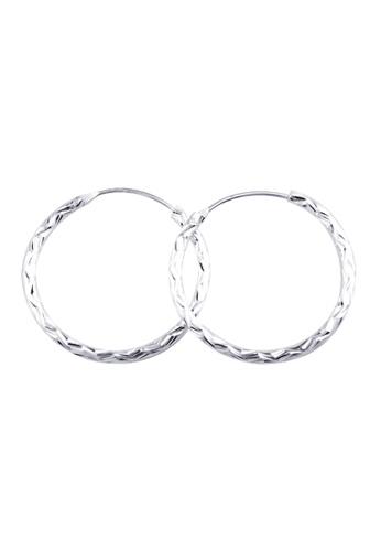 SC Tom Silver silver zigzag loop Earring SC872AC22IERPH_1