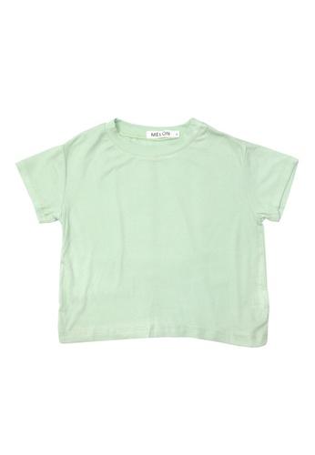 MELON green SOFT COTTON BASIC TEE, MINT GREEN 223E3KAEFB47EDGS_1