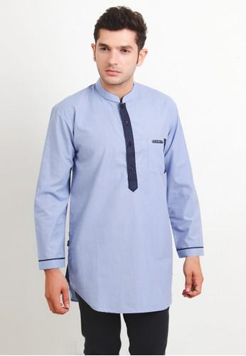 NextUp blue Kurta Lengan Panjang 1199 Bordir - List Hitam B27B5AA1069551GS_1