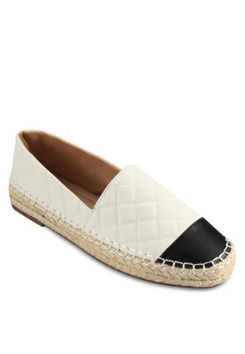 Mindy Quilted Sliesprit 鞋p On Espadrille Flats, 女鞋, 懶人鞋